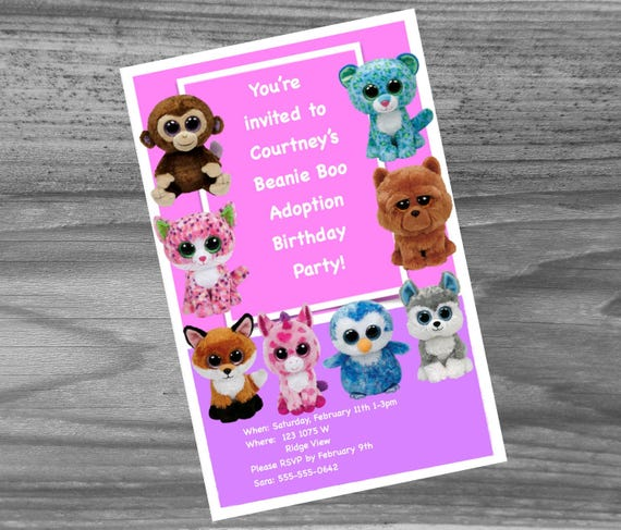 Beanie boo birthday party kit everything you need for your etsy solutioingenieria Image collections