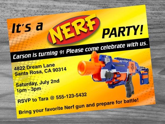 Dart gun birthday party invitation custom made very high etsy image 0 filmwisefo