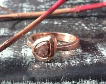 Rose Cut Diamond Engagement Ring