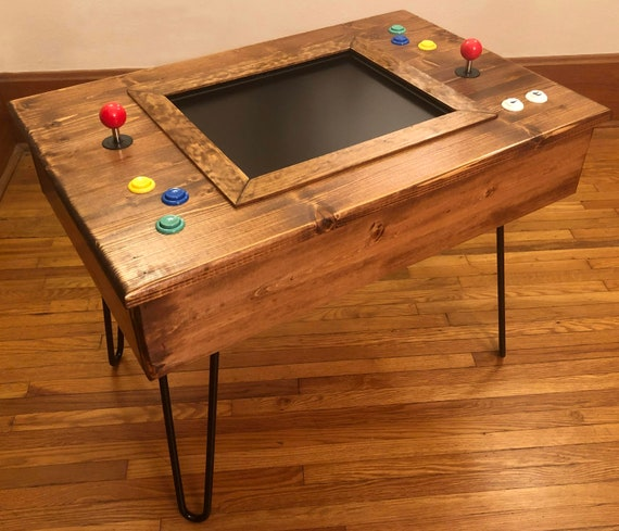 In Cocktail Table Arcade Machine With MidCentury Modern Etsy - Mid century modern pool table