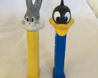 1990's Looney Tunes Pez Dispensers.