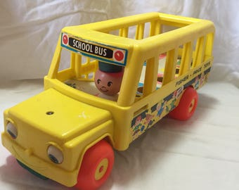 1965 Fisher Price Little People School Bus # FPT552