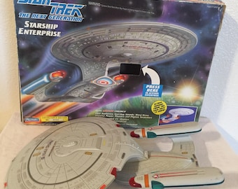 1992 Playmates Toys Starship Enterprise! Working!!