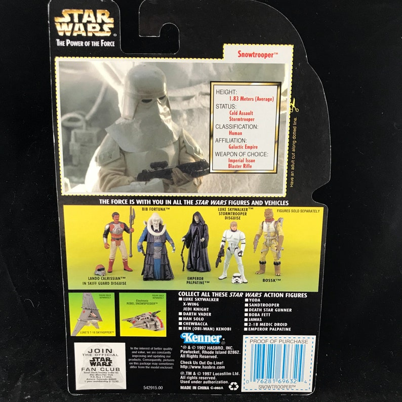 Star Wars lourd fusil d/'assaut partie pour Han Solo Power of the Force 2 POTF 2 1995