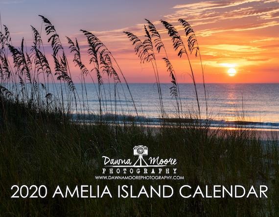 Hanukkah 2020 Calendar Amelia Island FL Photo Calendar 2020 Monthly Wall Calendar   Etsy