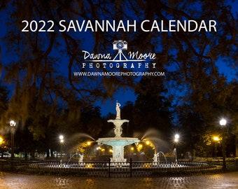 Savannah Georgia Photo Calendar 2022 - Monthly Wall Calendar - Photography Calendar for 2022 - Gift Christmas Birthday Hanukkah - Georgia