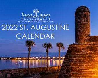 St. Augustine FL Photo Calendar 2022 - Monthly Wall Calendar - Photography Calendar for 2022 - Gift Christmas Birthday Hanukkah - Florida