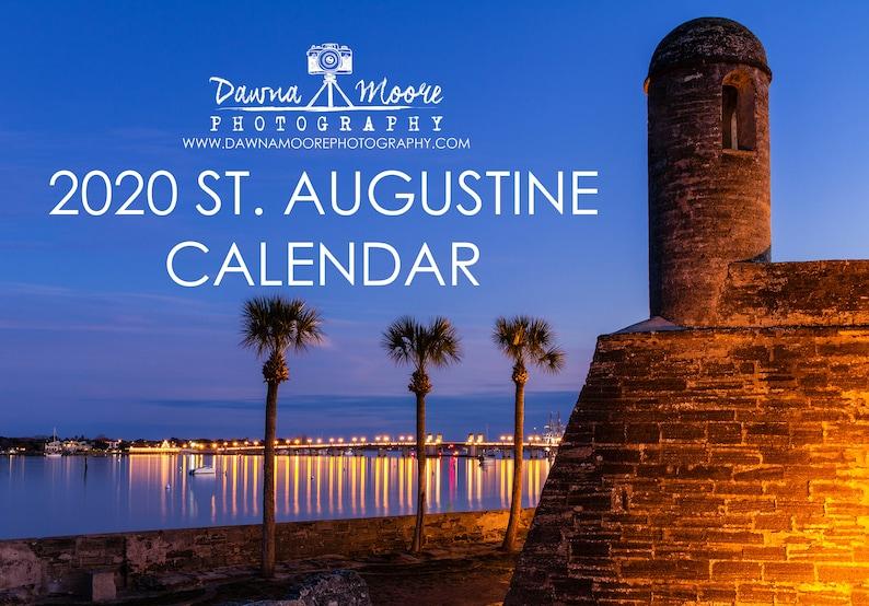 Hanukkah 2020 Calendar St. Augustine FL Photo Calendar 2020 Monthly Wall Calendar   Etsy