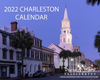 Charleston SC Photo Calendar 2022 - Monthly Wall Calendar - Photography Calendar for 2022 - Gift Christmas Birthday Hanukkah South Carolina