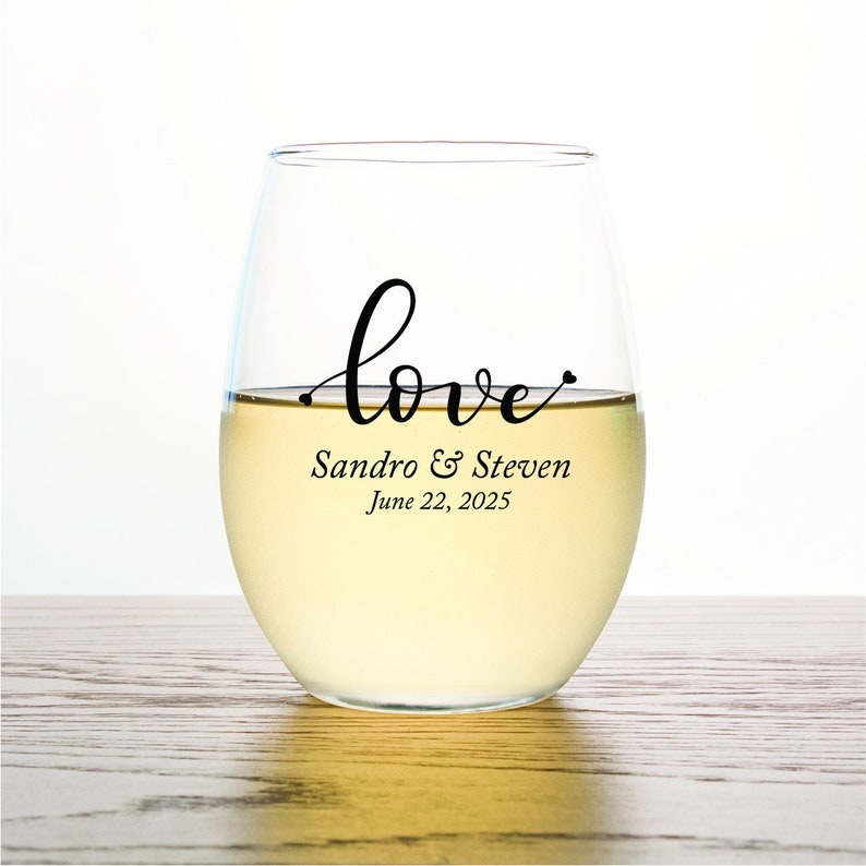 Various Styles 24pcs ST9OZ-EDPP256 Personalized Stemless Wine Glass 9oz