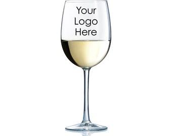 36pcs Add Your Logo, Design, Brand - Wine Glass with Stem 12oz