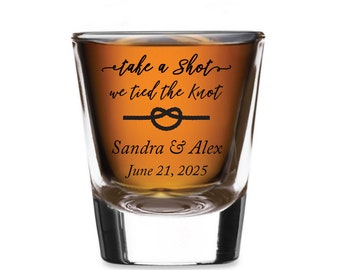 24pcs - Personalized Typical Shot Glass - Take a Shot We Tied The Knot - SGH5057-EDPP220A