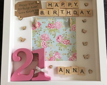 21st Birthday Gift 21 Floral Present Happy Special Age
