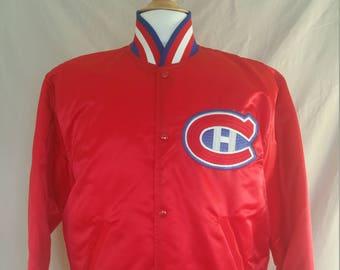 Vintage Satin Starter Jacket - Montreal Canadiens - Large - NWOT