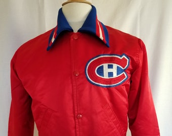Vintage Satin Starter Jacket - Montreal Canadiens - Small - EUC