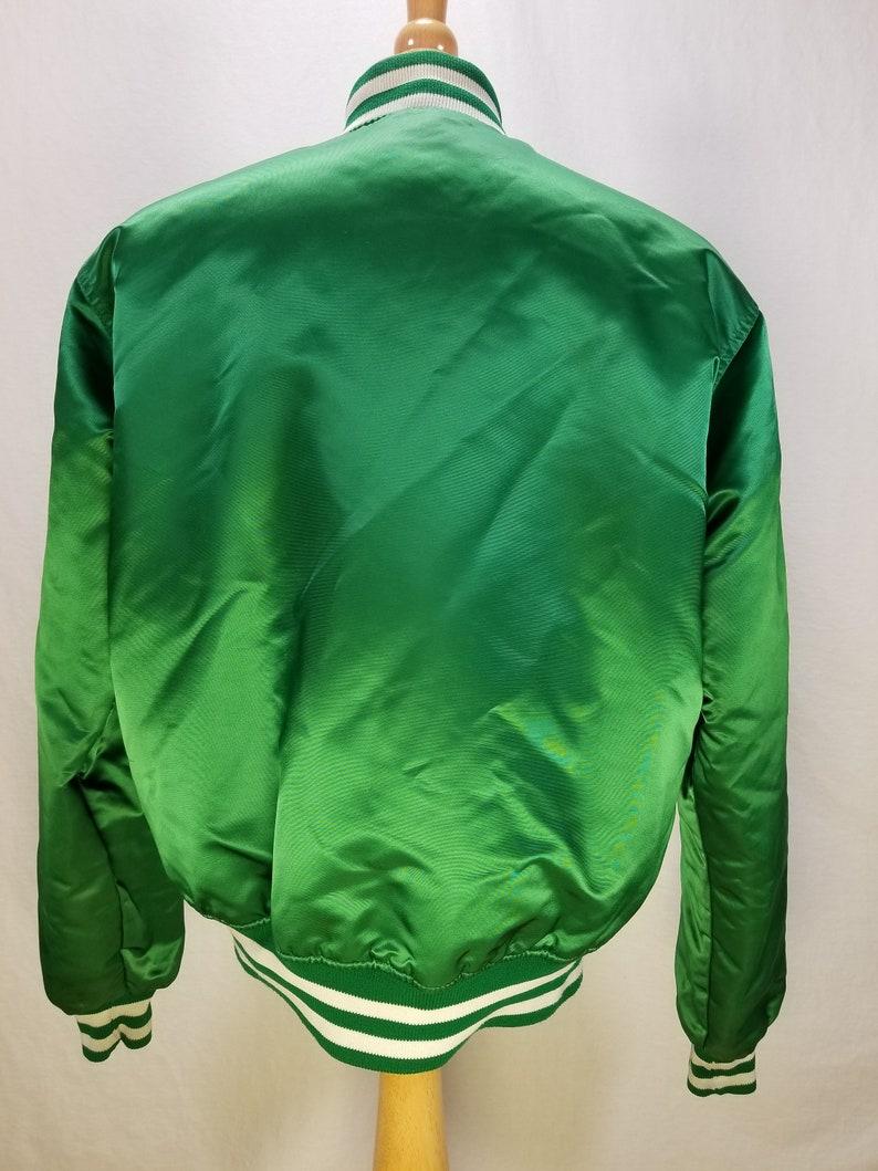 - EUC L Large Boston Celtics- Vintage Satin Starter Jacket