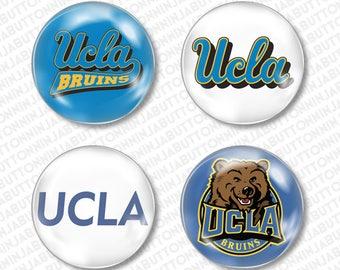Set of 4 Mini Pins / Buttons - UCLA BRUINS university of california los angeles college graduation