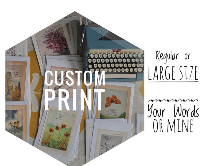 Featured listing image: Custom Print - You Pick