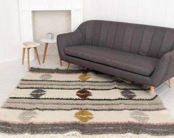 Wool Area Rug, Large Carpet Handmade, Home Decor, Wool Rug, Hand Woven Rug, Bedroom  Rug, Living Room Rug, Large Area Rug, Wool Carpet Rug