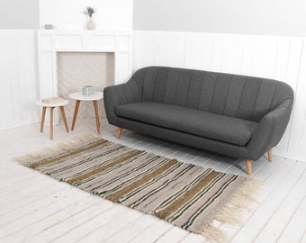 Lange Läufer, Handgewebter Teppich, Teppich, Wohnzimmer / Bett Zimmer  Teppich, Nachttisch Teppich, Housewarminggeschenk, Modernen Akzent Teppich,  ...