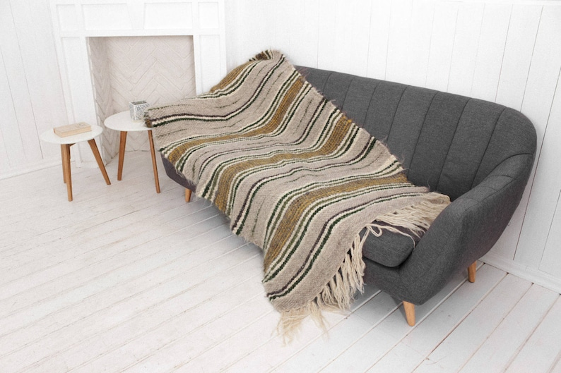 Astonishing Small Throw For Chair Sofa And Chair Wool Throw Striped Throw Blanket Hand Woven Plaid Blanket Living Room Throw Heavy Throw For Couch Dailytribune Chair Design For Home Dailytribuneorg