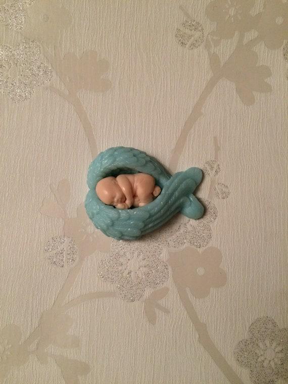 Ornament Miscarriage Keepsake Bereavement Gift Pregnancy Loss Angel Baby Encased in Light Blue wings Infant Loss Stillborn