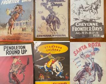 """18""""x24"""" Vintage Rodeo Poster Prints ***Preorder 1-2 weeks"""
