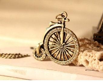 Fashion Bike Necklace Vintage Jewelry