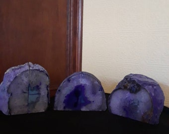 Awesome purple agate bookends 4+ lbs