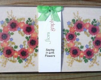 Set Of 4 Drinks Coasters Mum Birthday Gift Housewarming Nan Sister For Gardeners Pressed Flower