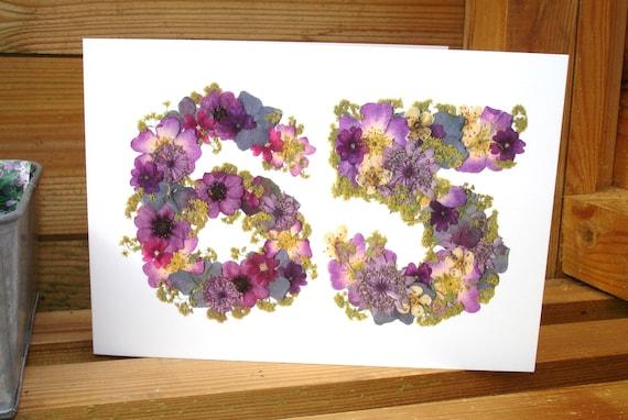 65th Birthday Card Wife Husband