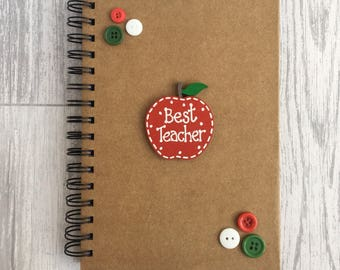 Best teacher notebook - teacher gift - end of school gift - christmas teacher gift - best teacher - best teacher notebook