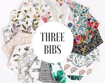 Bandana Bibs, bibs baby, baby bandana bib, baby bandana, baby bibs, bibs for girls, bibs for boys, baby shower gift, bandana bibs, set of 3