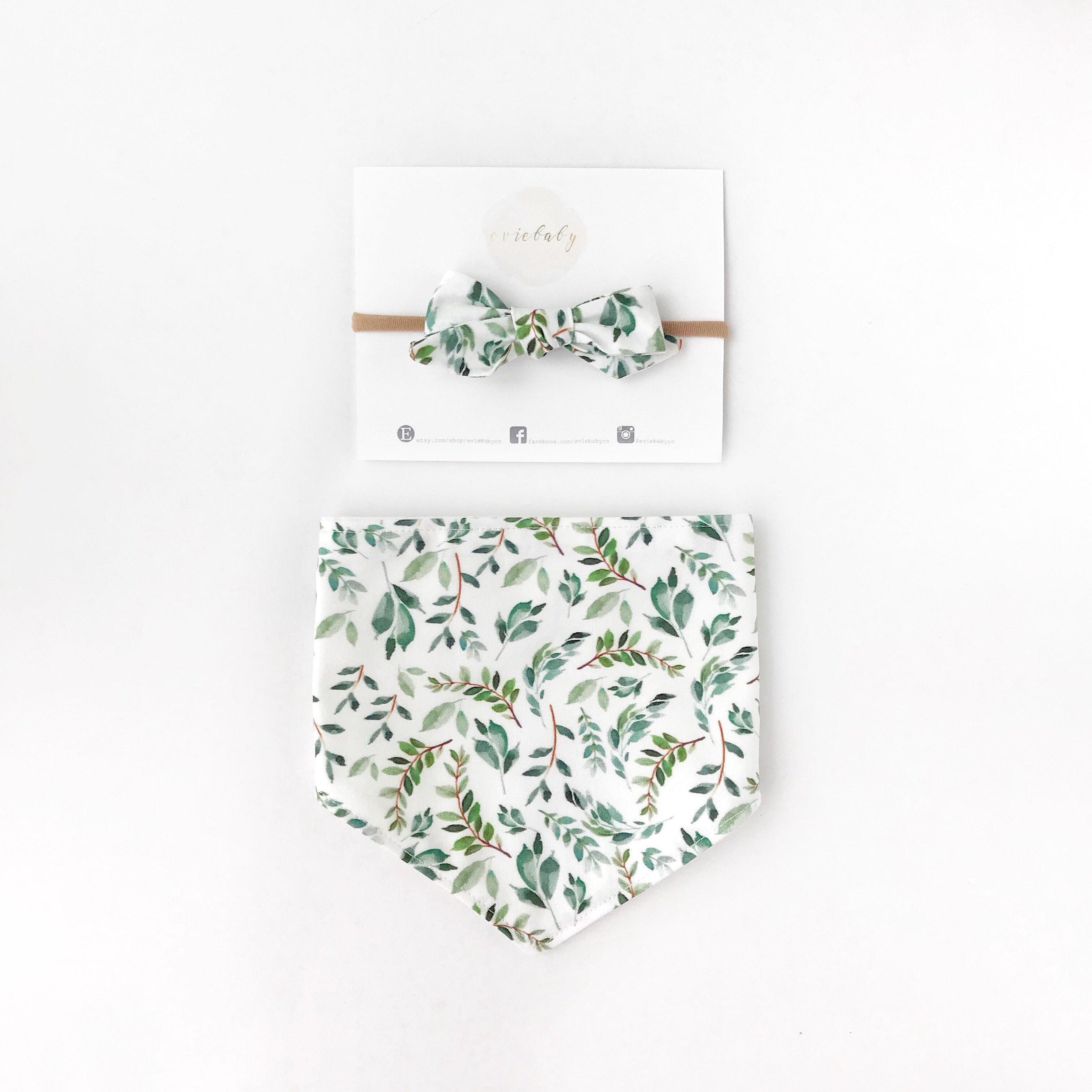 Dribble ons bandana bavoir bébé filles pack de 3 pastels fleurs fuchsia /& rose bébé