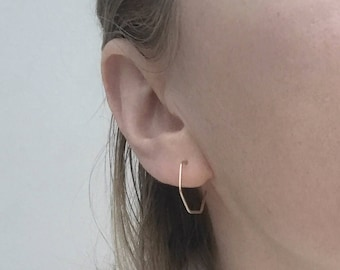 Geometric earrings, modern jewellery, minimalist earrings, ear wires, simple earrings, lightweight