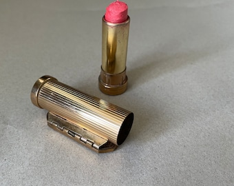 Midcentury lipstick from Corona Paris with folding mirror with Eiffel Tower