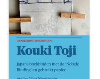 Handleiding Japans boekbinden met de Nobele Binding Kouki Toji