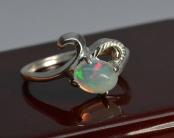 Fancy Opal ring - Sterling silver, size 7 , Natural Opal, opal ring,sterling silver,october birthstone,gift,Welo Opal,Mothers day gift