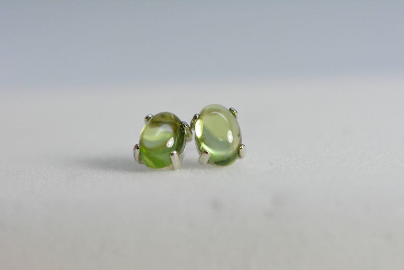 Yellow CITRINE 7x5mm Oval Gemstones .925 Sterling Silver Stud Earrings