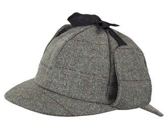 e69db90cd23 Tweed Deerstalker Hat (Affric Grey)