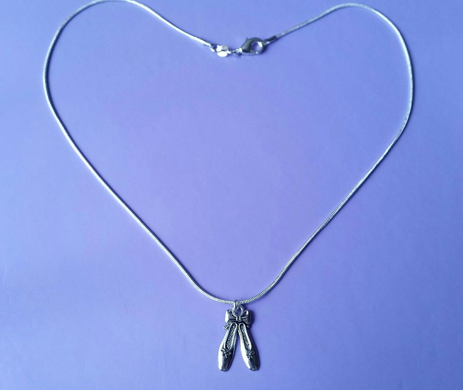 ballet slippers pendant necklace