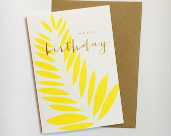 Yellow leaf Happy Birthday