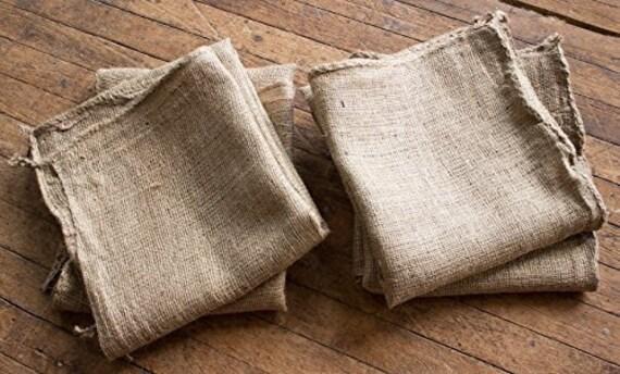 """Burlapper toile de jute de pommes de terre course sac sacs de jute, w 24"""" x 40"""" h, Qté 4"""