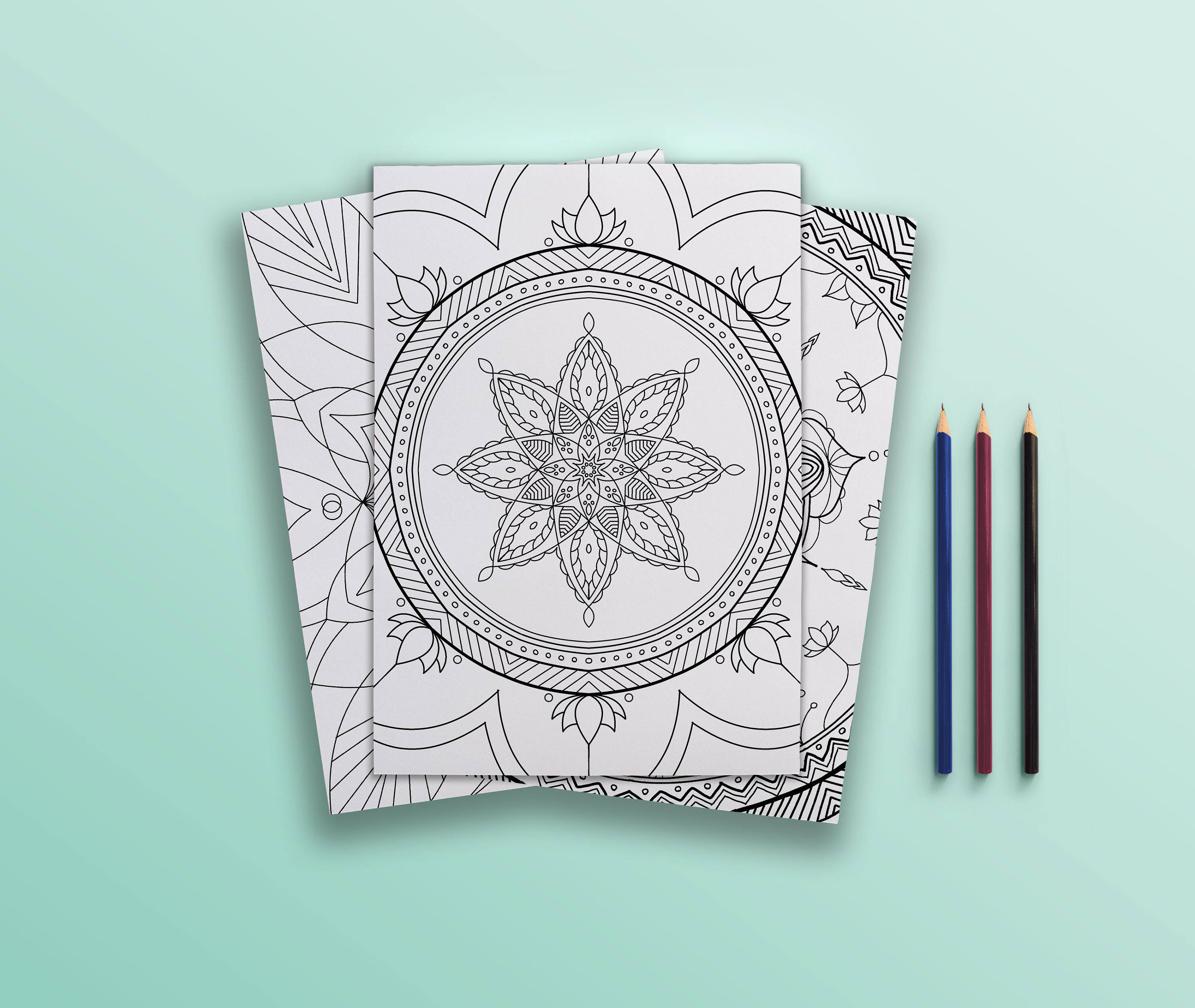Coloring pages for adults Color Pack Mandalas Kids / Adult | Etsy