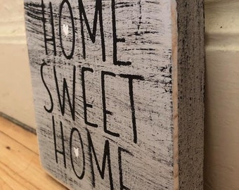 Home Sweet Home Sign | Home Sweet Home | Shelf Sitter | Mini Sign | Housewarming Gift | Gifts For her | Rustic Sign | Wood Sign | Home Decor