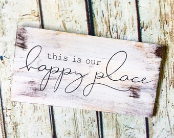 Lake is My Happy Place 7.25 x 10 Wooden Block Sign by My Word!