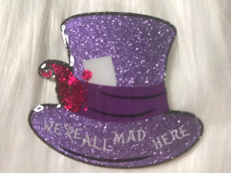 Halloween Badge Reel Halloween Badge Reels Alice in Wonderland Mad Hatter Badge Reel Badge Reel for Halloween Nurse Badge Reel