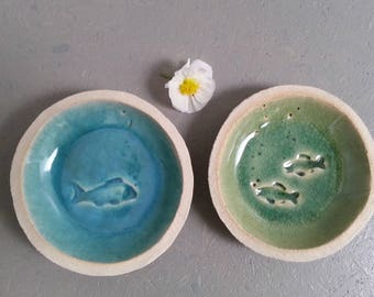 Ceramic feeding bowls for small cat dogs 1pair