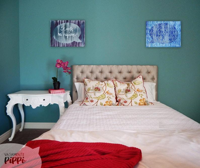Coppia di tele Lui & Lei tela per camera da letto idea | Etsy
