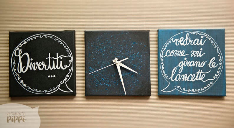 Orologi Da Parete In Tela : Orologio da parete decorazione parete idea regalo orologio etsy